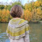 Modele de tricot de chale Jalava de Lilofil