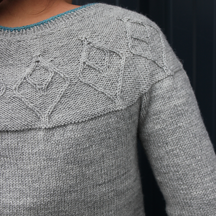 Cardigan knitting pattern - EZIA by Lilofil