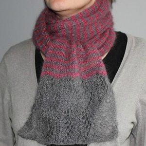 Modele de tricot d'écharpe Blissy de Lilofil