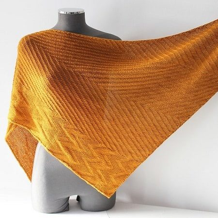 Shawl knitting pattern - UZO by Lilofil
