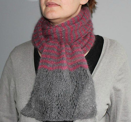 Stole knitting pattern - BLISSY by Lilofil