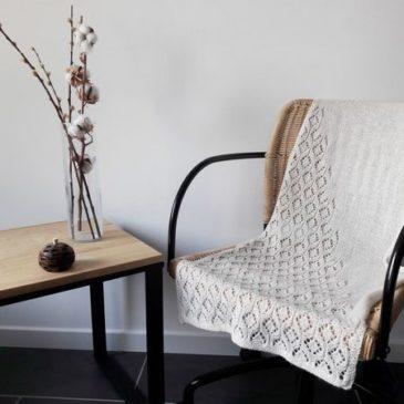 Modele de tricot d'étole Lesi Stole de Lilofil