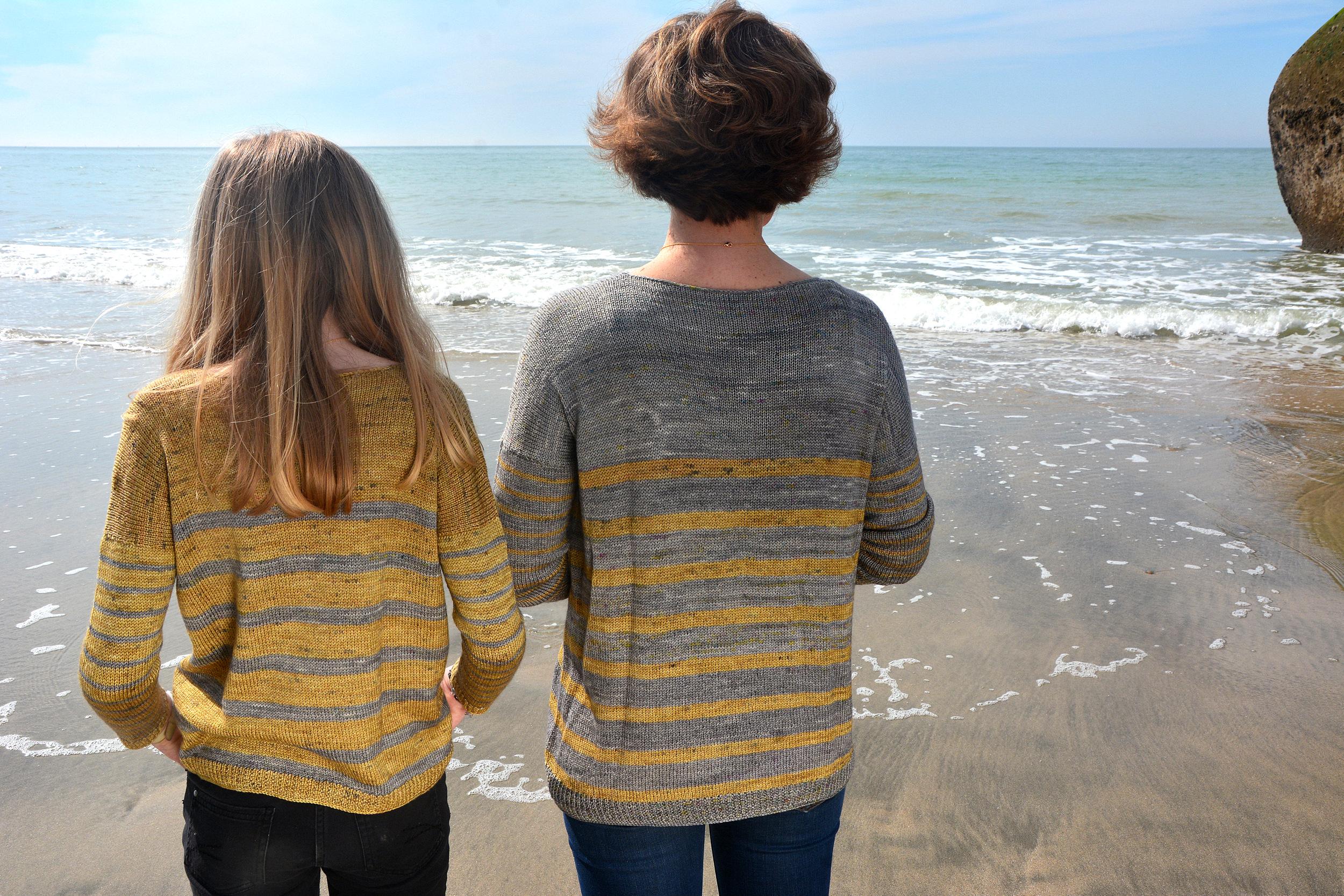 modèle de pull à tricoter Otxay de lilofil