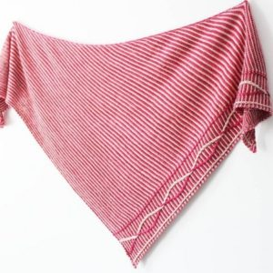 Explications tricot détaillées du modèle de chale Aralie de Lilofil