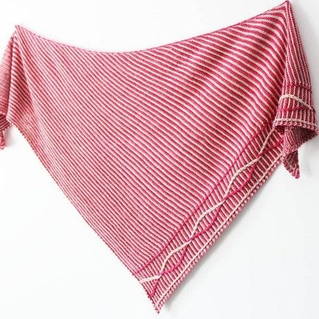 Shawl knitting pattern ARALIE by Lilofil