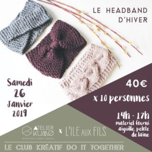 Tricotez votre headband pour l'hiver