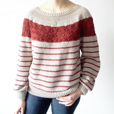 Sweater knitting pattern Sirell by Lilofil