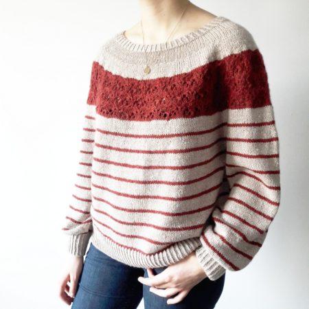 Modele tricot de pull Sirell de Lilofil