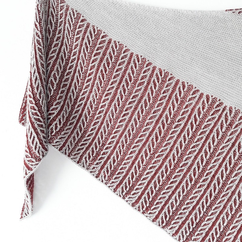 modele tricot chale Canut