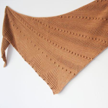 Modèle de tricot châle Tibesti