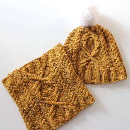 Modèle de tricot bonnet et col Sokis