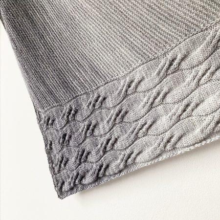 Modèle de tricot châle Moln