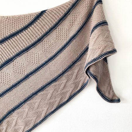Modèle de tricot-châle Snakewood